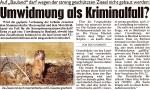 """Kronen Zeitung vom 5.1.2013 - """"Umwidmung als Kriminalfall?"""""""