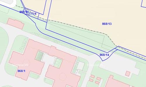 Bauplatz 5 liegt zum Teil am Heeresspital-Areal. Quelle: Stadt Wien – ViennaGIS