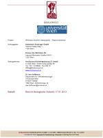 Bericht ökologische Aufsicht 17.01.2014