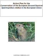 Action Plan for the Conservation of the European Ground Squirrel Spermophilus citellus in the European Union