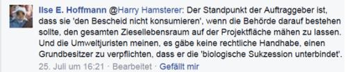 Ilse Hoffmann auf Facebook am 25-Juli-2014